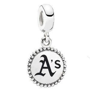 Oakland Athletics Charm Pandora Sterling Silver
